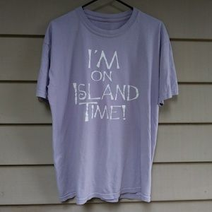 🌐$10 Vintage I'm on Island Time T Shirt Lavender